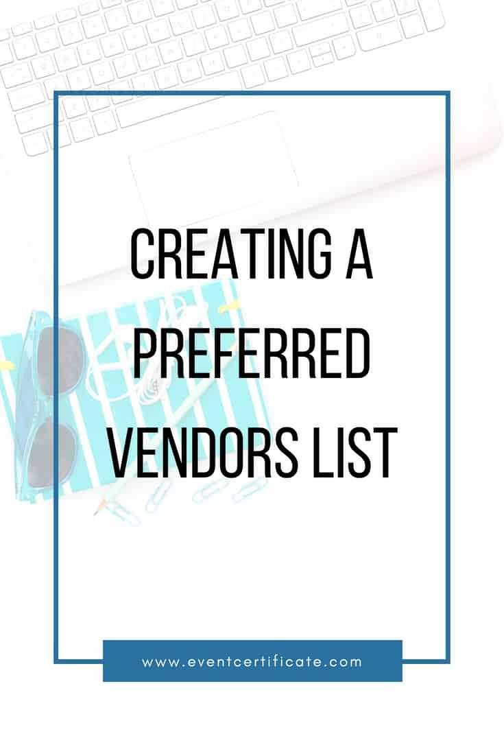 pinterest preferred vendors list