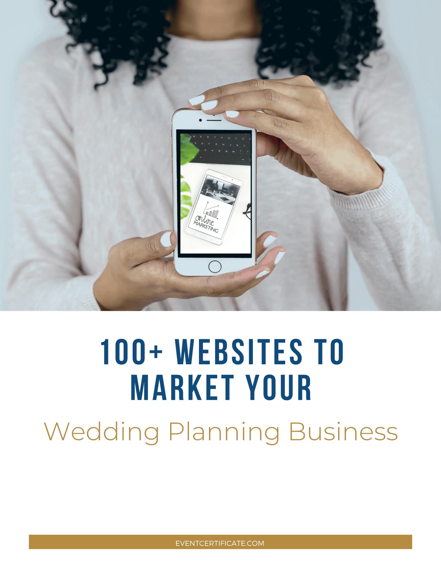 event planning business marketing list