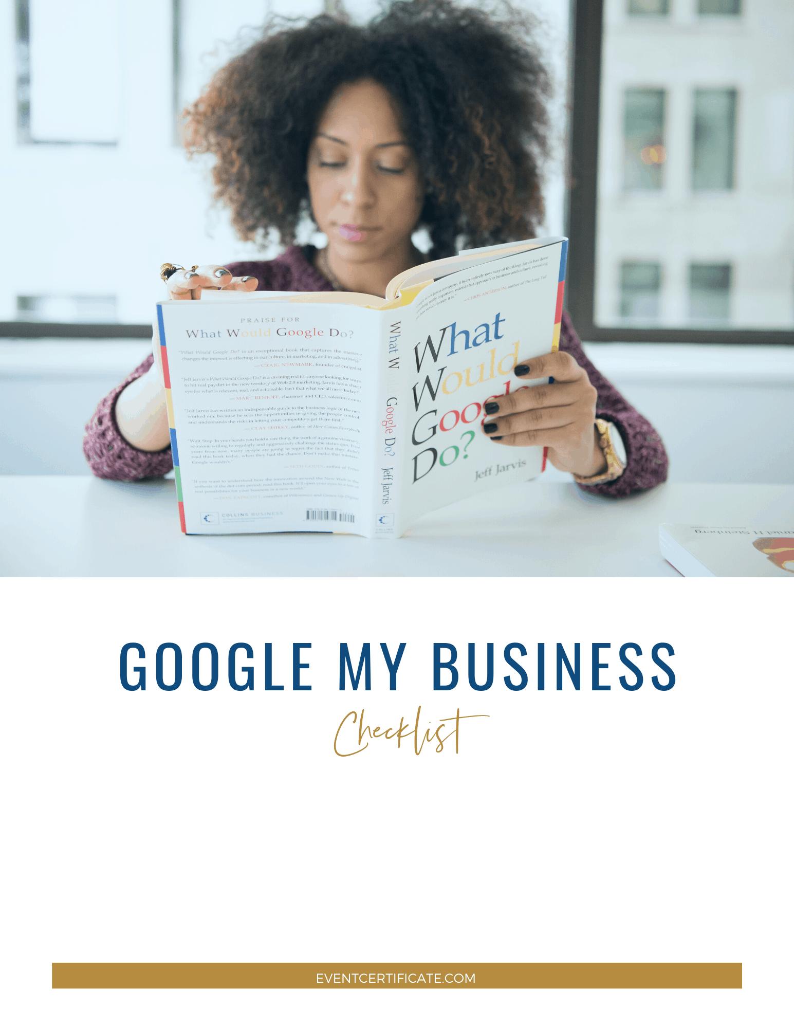 Google My Business Checklist Download