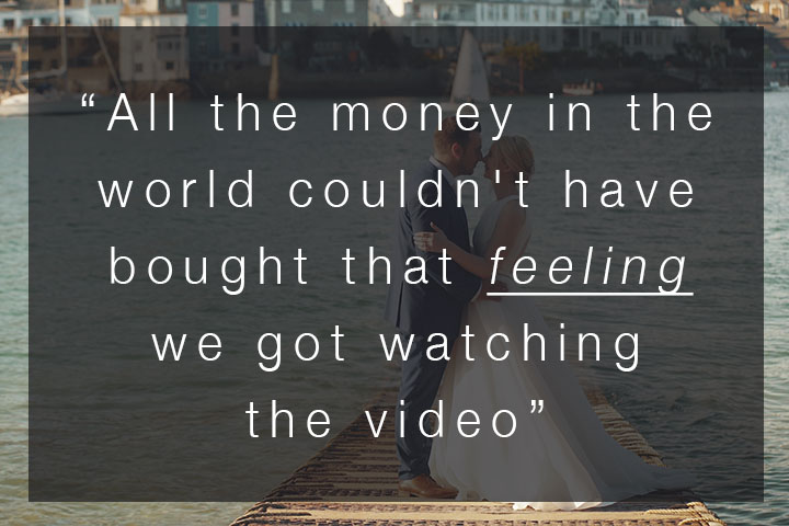 """""""All the money in the world couldn't have bought that feeling…"""" – SWWA 2018 Voter Comments – Wedding Video"""