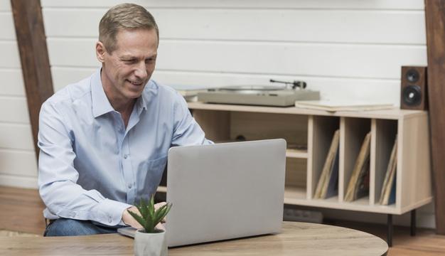 Man Setting Up A Website