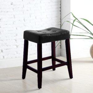 Union Furniture Dining Room 2787-BK Saddle Chair Stool
