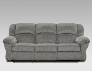 union furniture living room gray reclining sofa