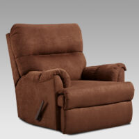 union-furniture-living room-2155-brown-microfiber-recliner