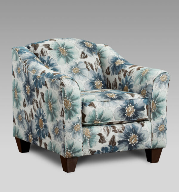 union-furniture-living room-gray-floral-accent-chair