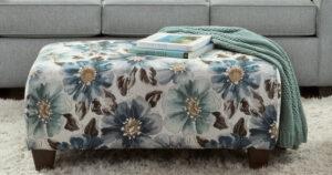 union-furniture-living room-3440-blue-ottoman