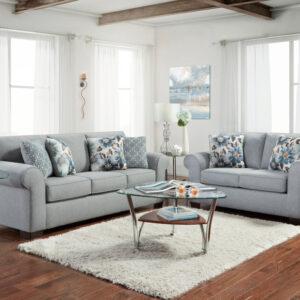 union-furniture-living room-gray-sofa-loveseat