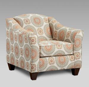 union-furniture-living room-5040-9011-tan-orange-accent-chair