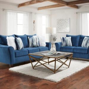 union-furniture-living room-blue-sofa-loveseat