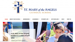 Screenshot of the St. Mary's website