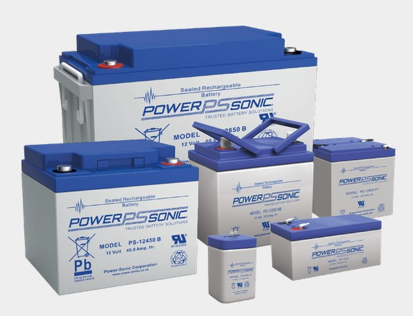 A diverse collection of PowerSonic SLA batteries