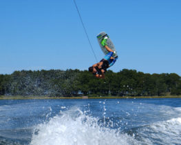 Wakeboarding with Peconic Water Sports in the Hamptons Near Southampton, New York