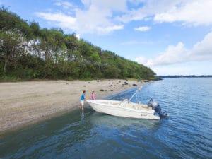 Peconic Water Sports 18 foot rental boat in the Hamptons near East Hampton