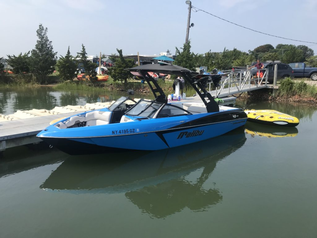Malibu Wakeboard Boat for Sale in Long Island New York at Peconic Water Sports location in the Hamptons Mastercraft Nautique Sag Harbor Montauk