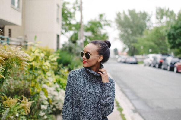 Grey Turtlenecks weater