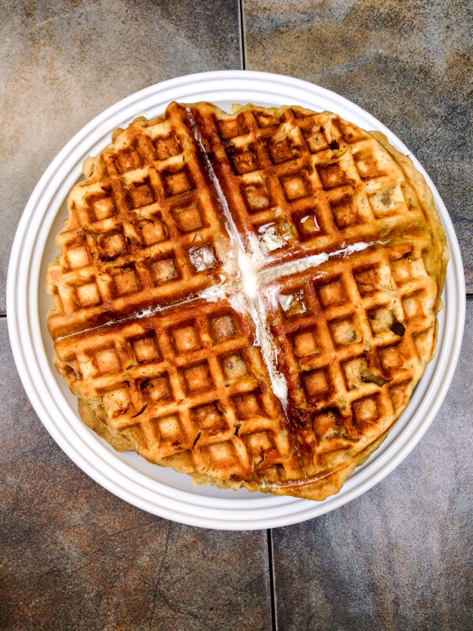 banana bread waffle