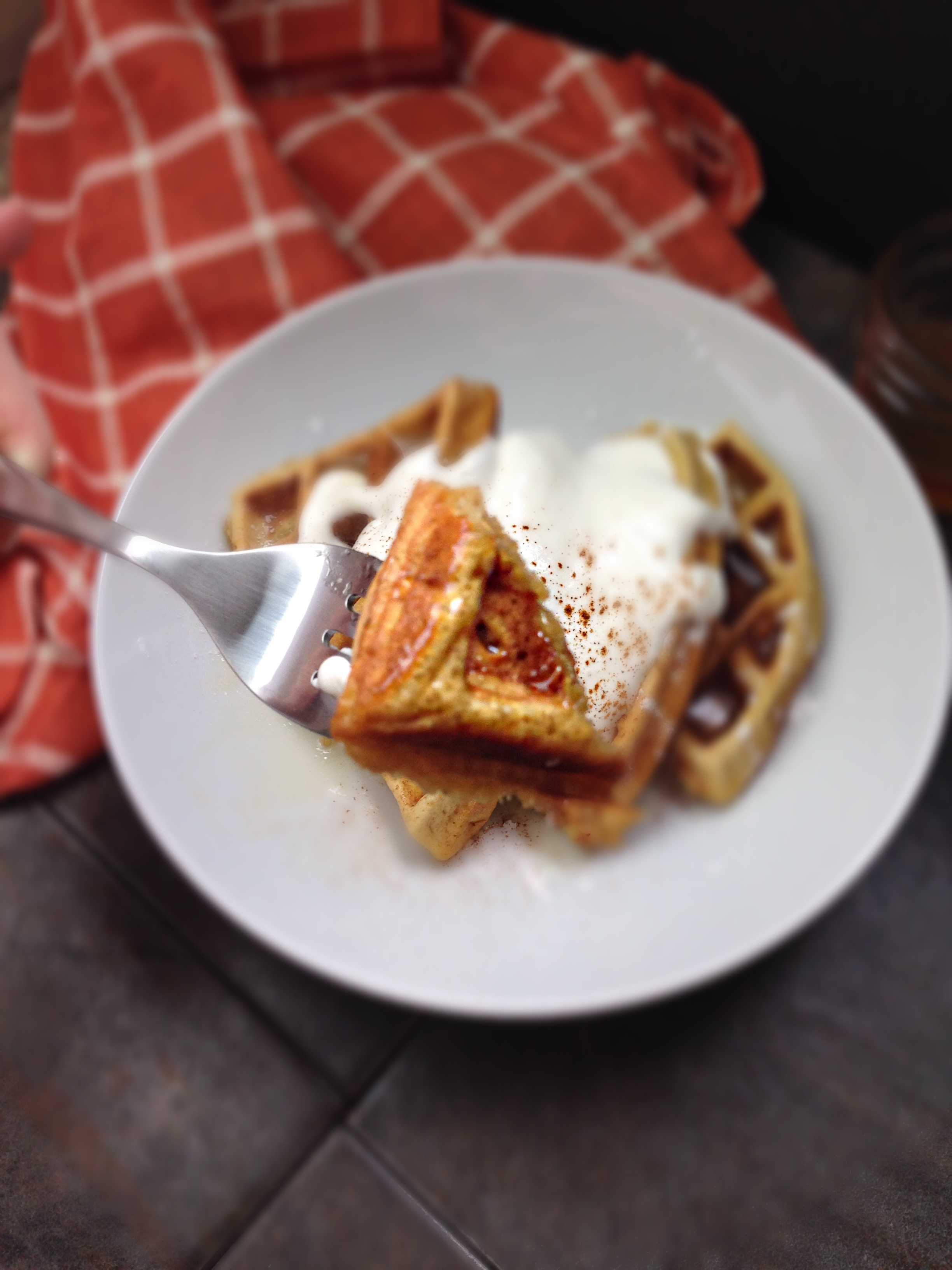 cinnamon pumpkin waffle