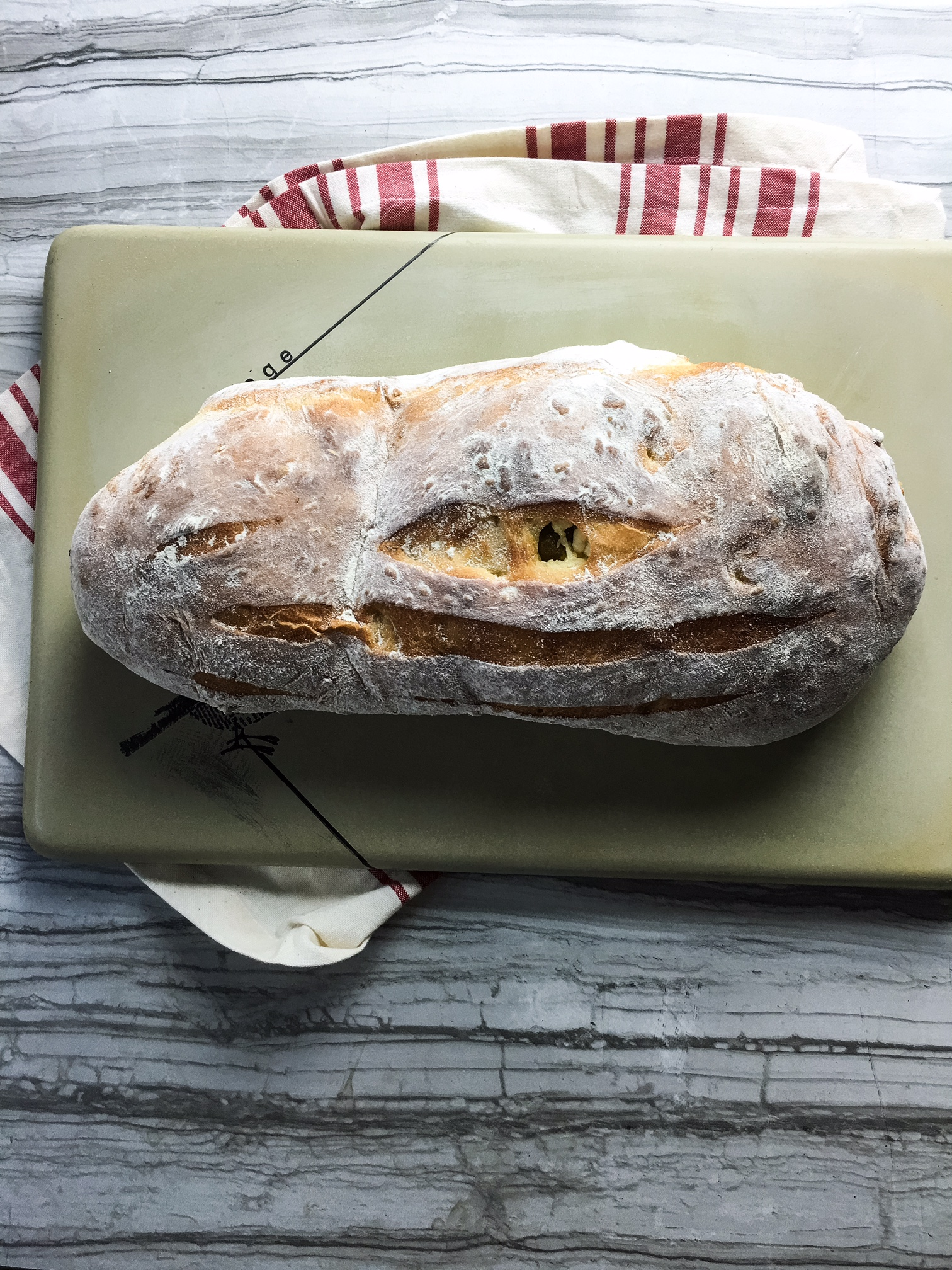 cheddar olive bread