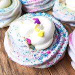 cotton candy meringue cookies