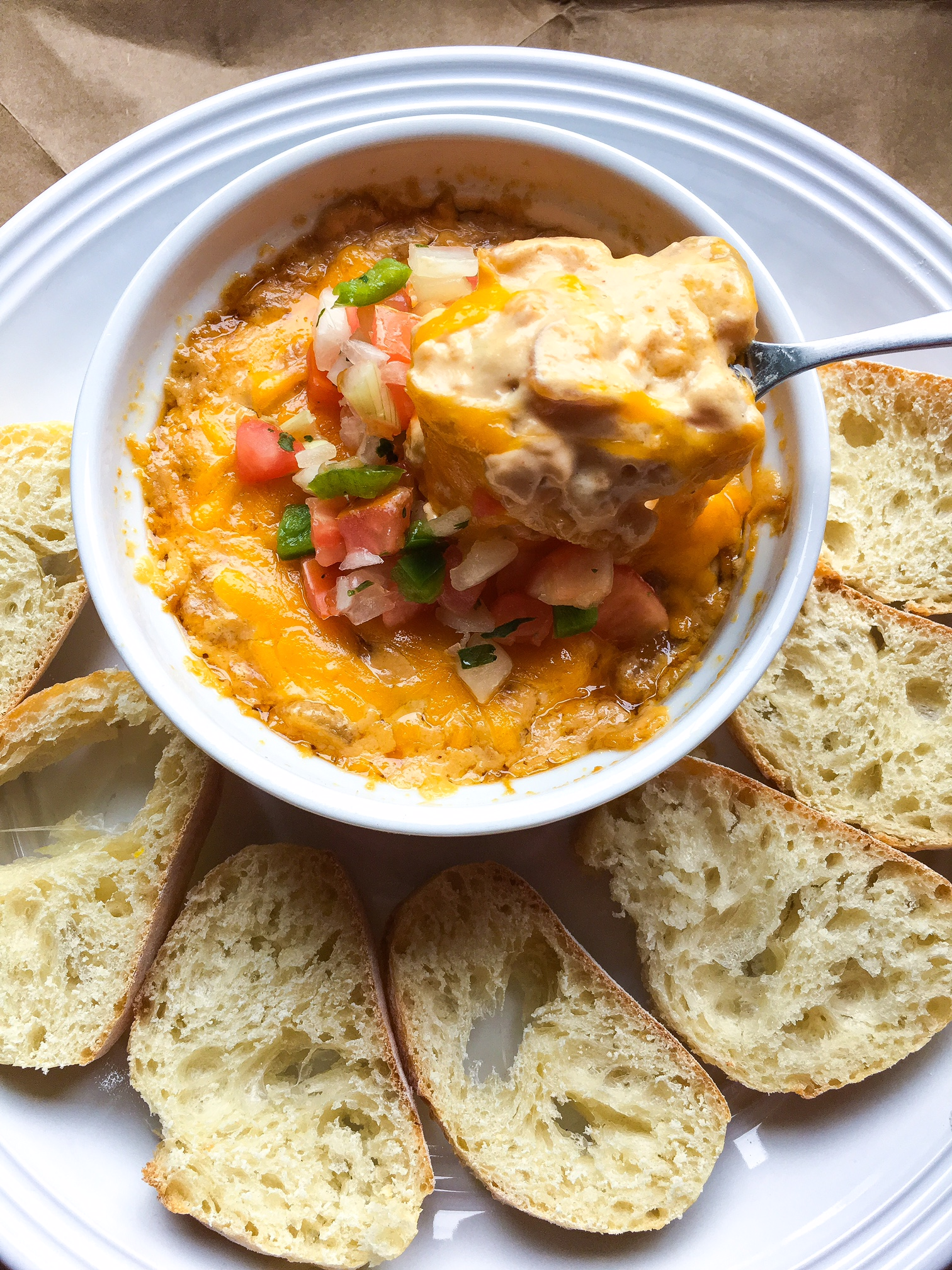 grilled corn and cheese dip