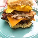 steak egg and cheese biscuits