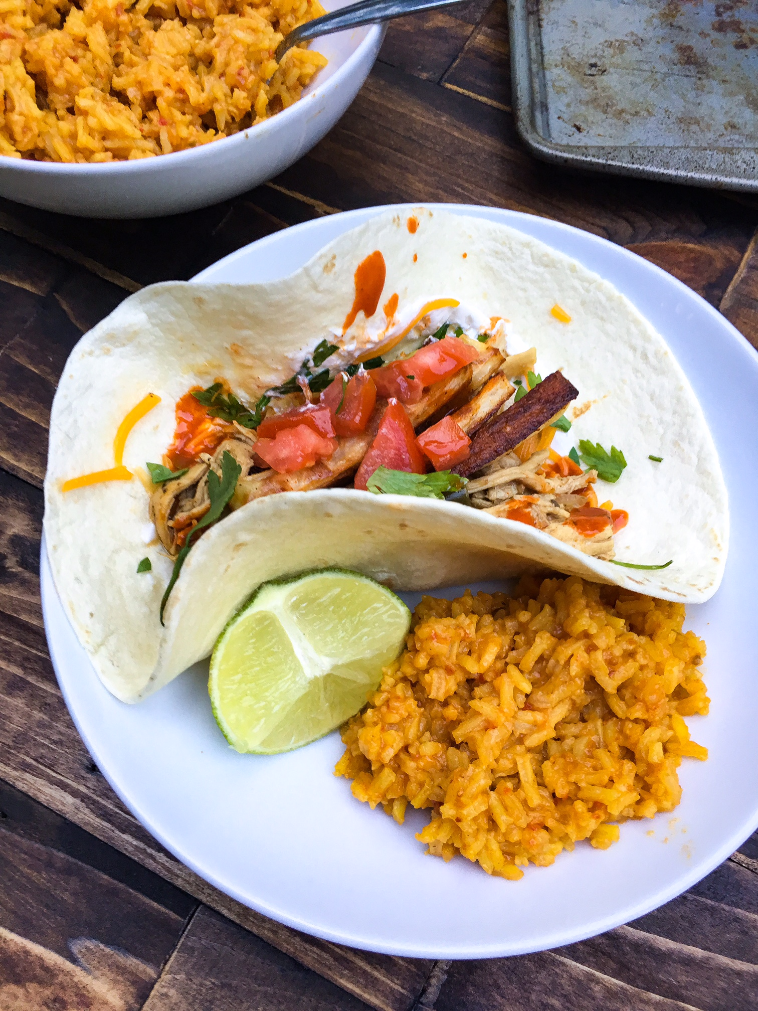chicken and chili tacos