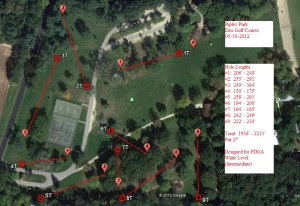 Ripley Park course layout - 05-10-2012