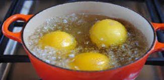 Hervir limones de noche y beber en la mañana