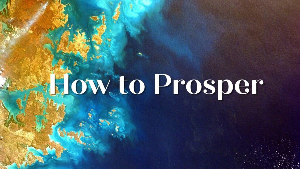 Sermon: How to Prosper