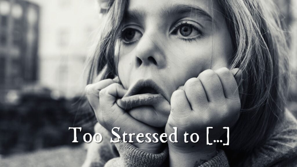 Sermon: Too Stressed to [ ]
