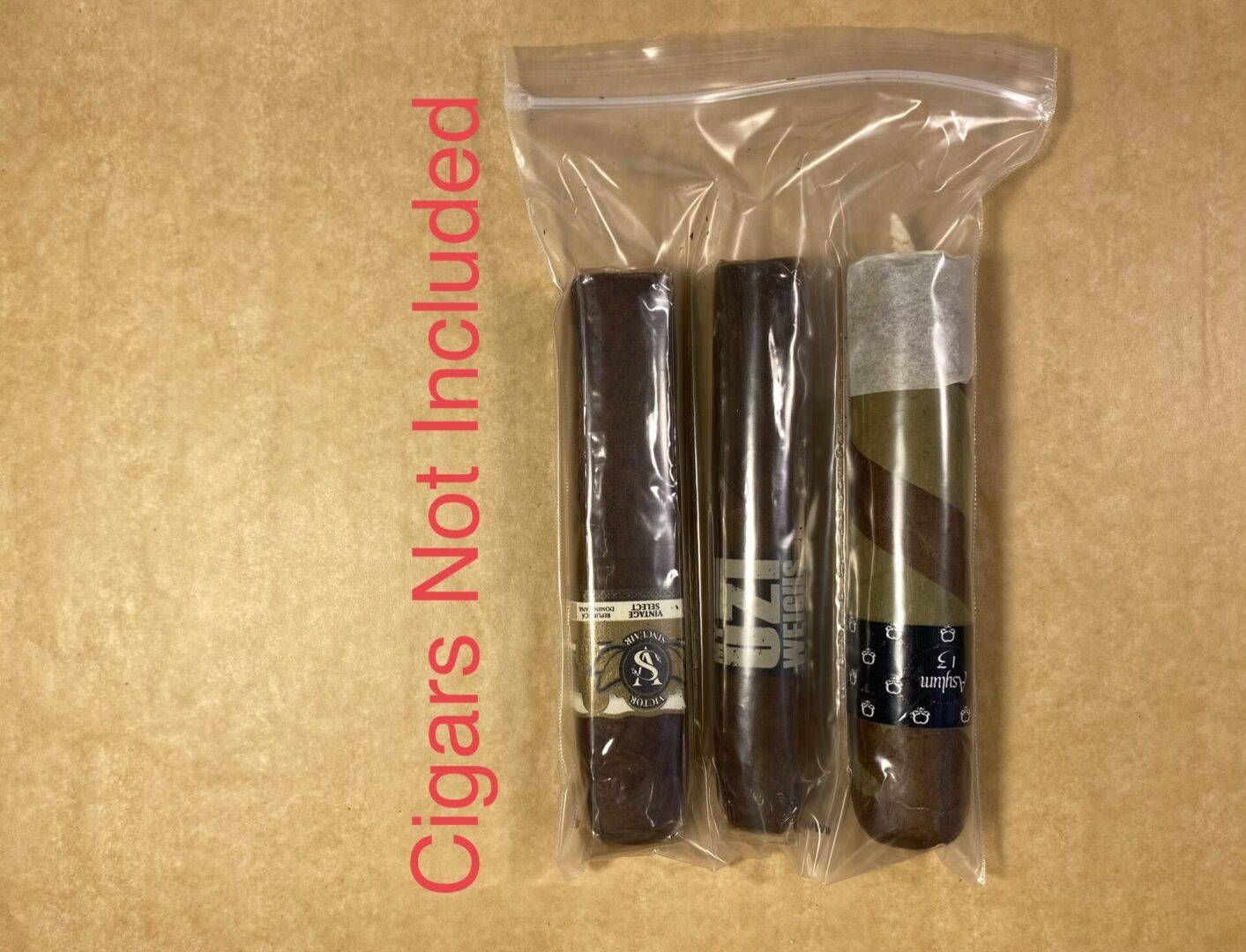 3 Finger Bag w/Cigars (Example)