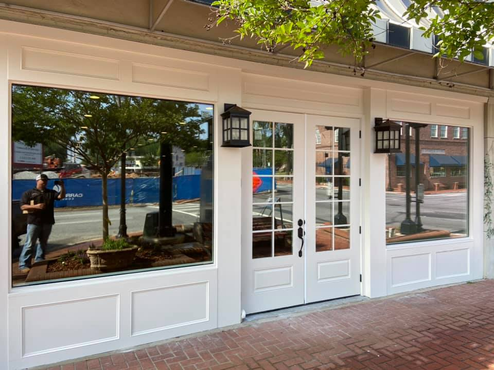Storefront in historic area of downtown Lawrenceville, GA