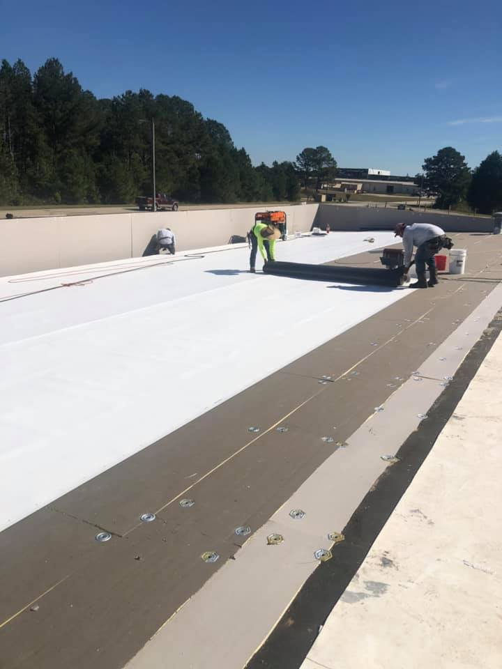 top layer seal of roof replacement