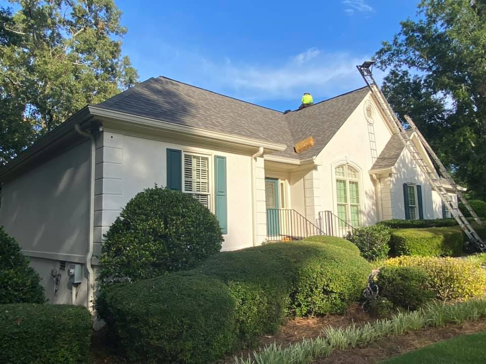 new roof almost finished in the Watkinsville hail damaged home