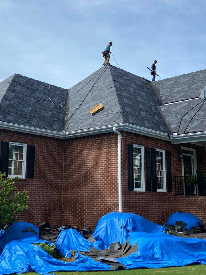 Watkinsville home with underlay installed ready for new roof tiles