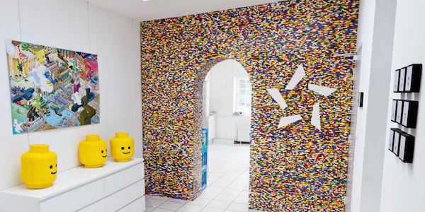 Check Out This Awesome Wall Built Entirely From Legos! (Crazy, right?!)