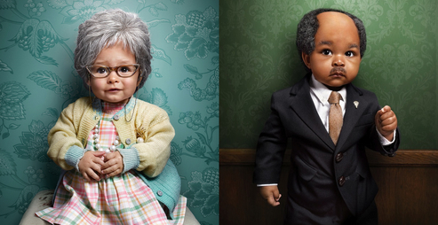Photos Of Adorable Toddlers Dressed As Precious Old Souls!