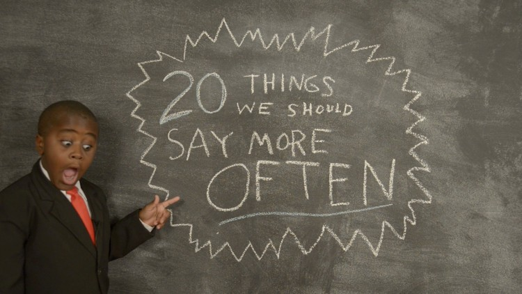 Kid President Gives Us Inspiration For 2015 With 20 Things That We Should Say More Often