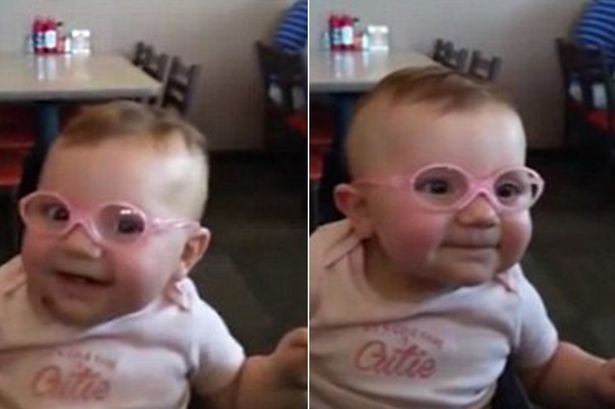Adorable Baby Girl Gets Glasses And Her Reaction To Seeing Her Parents' Faces Will Melt Your Heart