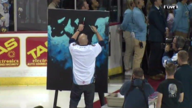 Patriotic Painter wins our hearts!! The last moment is an awesome finishing touch.