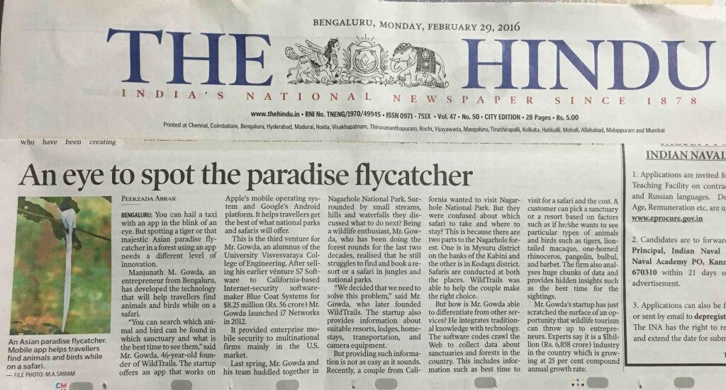 WildTrails The Hindu Newspaper