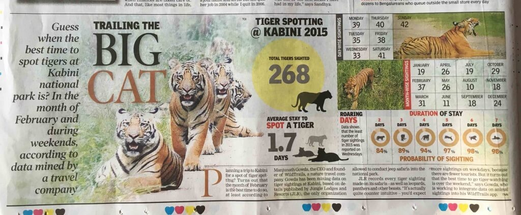 Trailing the Big Cat on times of india - sunday times