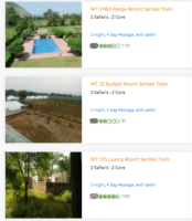 Accommodations In Sariska