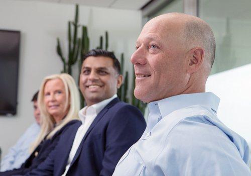 Brookside team members meeting in conference room