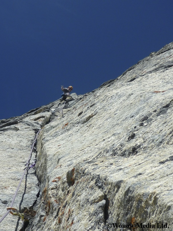 Dave on the crux pitch