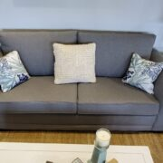 Gray-colored commercial grade sofa sleepers