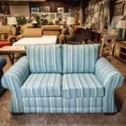 Loveseat Sofa Sets | Blue Pinstriped Loveseat