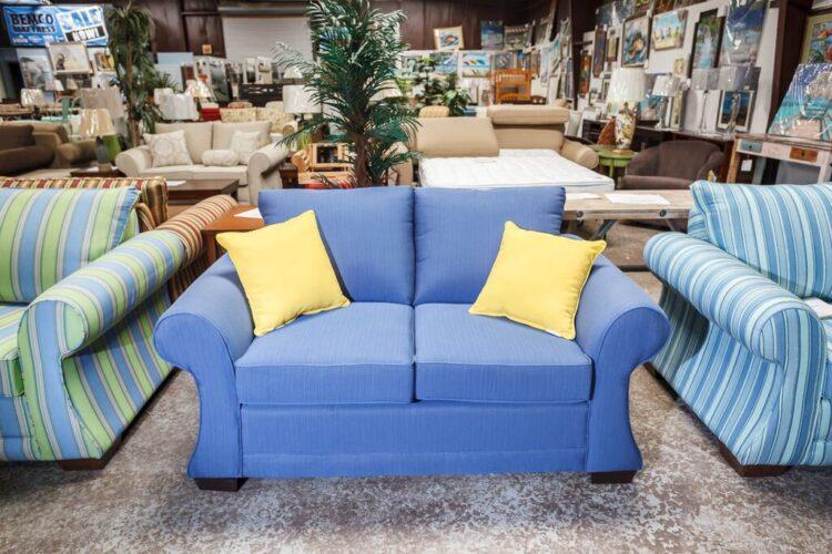 Loveseat Sofa Sets | Blue Commercial Loveseat