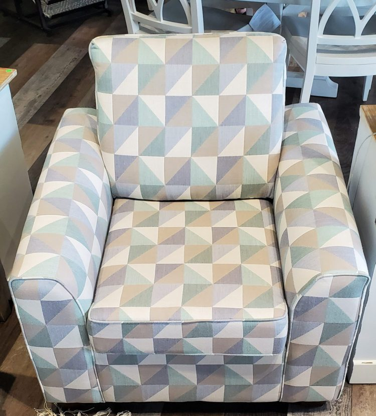 A Crazy Quilt Seaglass Chair | Commercial Grade Chairs | Factory Direct Furniture
