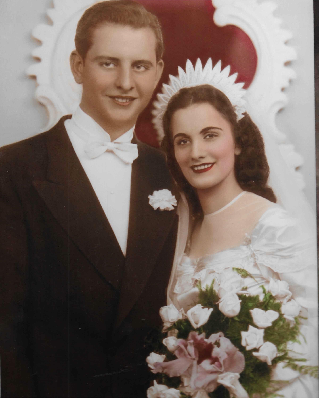 Al and Daisy Monzo's 1948 wedding